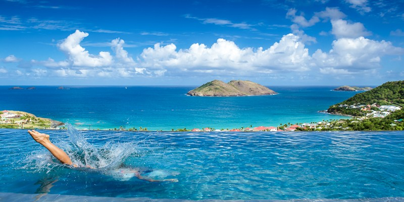WIMCO Villas, St Barths, Destinations, Villa pool, Columbier, Caribbean, St Barthelemy
