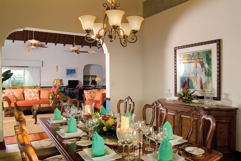 WIMCO Villas, Ultimacy, RIC ULT, Anguilla, Shoal Bay East, Family Friendly Villa, 8 Bedroom Villa, 8 Bathroom Villa, Pool, Dining Room, WiFi