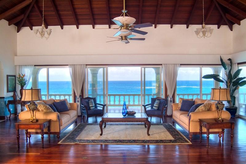 WIMCO Villas, Ultimacy, RIC ULT, Anguilla, Shoal Bay East, Family Friendly Villa, 8 Bedroom Villa, 8 Bathroom Villa, Pool, Living Room, WiFi
