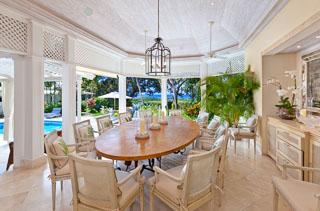 WIMCO Villas, Klairan - Sandy Lane, AA KLA, Barbados, Sandy Lane Estate - St. James, Family Friendly Villa, 4 Bedroom Villa, 4 Bathroom Villa, Pool, Dining Room, WiFi