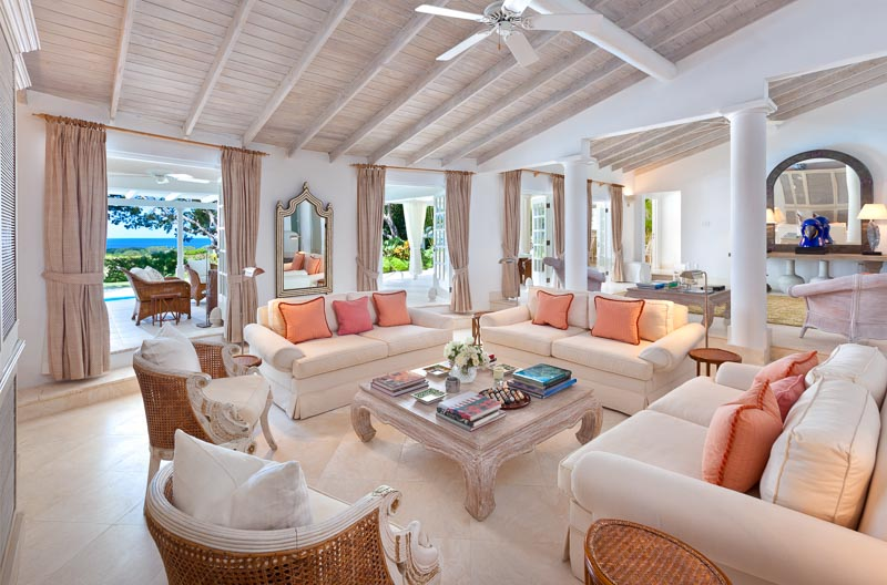 WIMCO Villas, Klairan - Sandy Lane, AA KLA, Barbados, Sandy Lane Estate - St. James, Family Friendly Villa, 4 Bedroom Villa, 4 Bathroom Villa, Pool, Living Room, WiFi