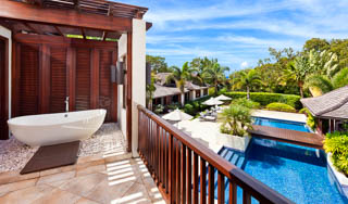 WIMCO Villas, Alila, RL ALI, Barbados, Sandy Lane Estate - St. James, Family Friendly Villa, 4 Bedroom Villa, 4 Bathroom Villa, Pool, Bathroom, WiFi