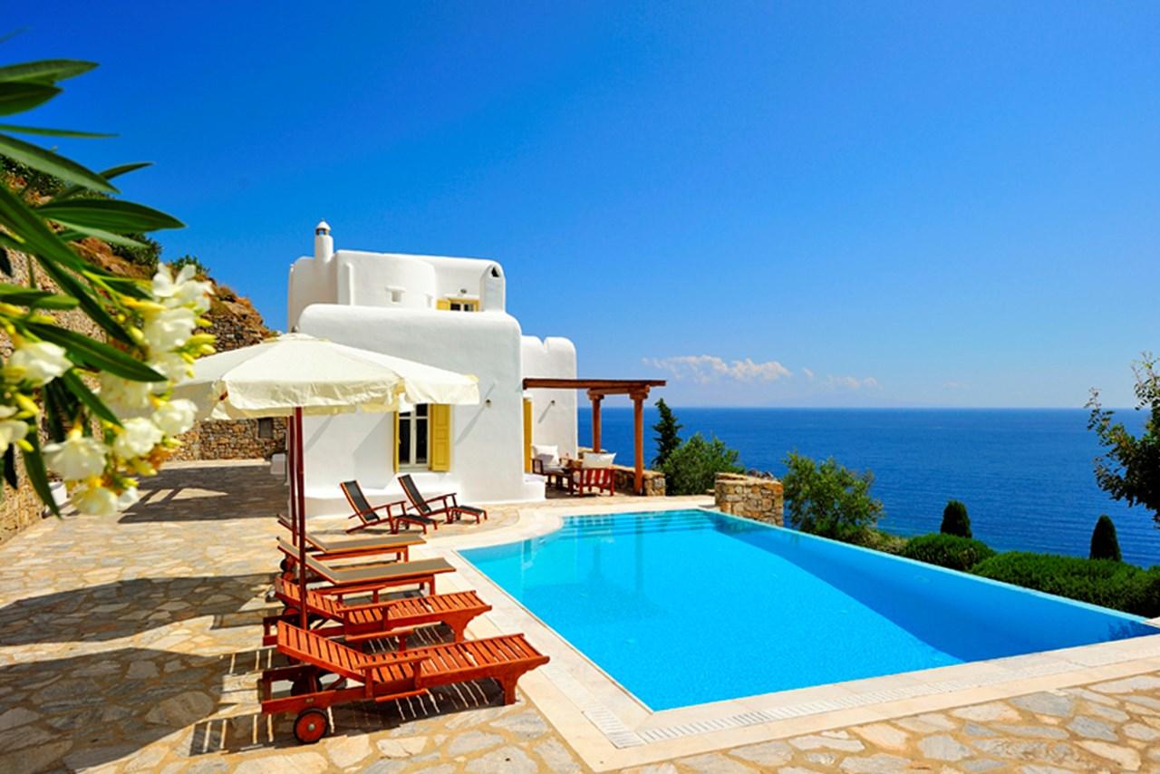 WIMCO Villas, Ilios, Mykonos, Greece, Mykonos, Family Friendly Villa, 4 Bedroom Villa, 3 Bathroom Villa, Pool, Exterior, WiFi
