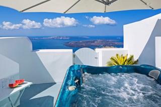 WIMCO Villas, Gaia, MED GAI, Greece, Santorini, Family Friendly Villa, 3 Bedroom Villa, 3 Bathroom Villa, Jacuzzi, WiFi
