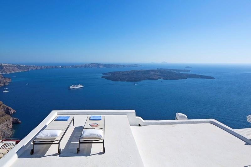 WIMCO Villas, Gaia, MED GAI, Greece, Santorini, Family Friendly Villa, 3 Bedroom Villa, 3 Bathroom Villa, View from Villa, WiFi