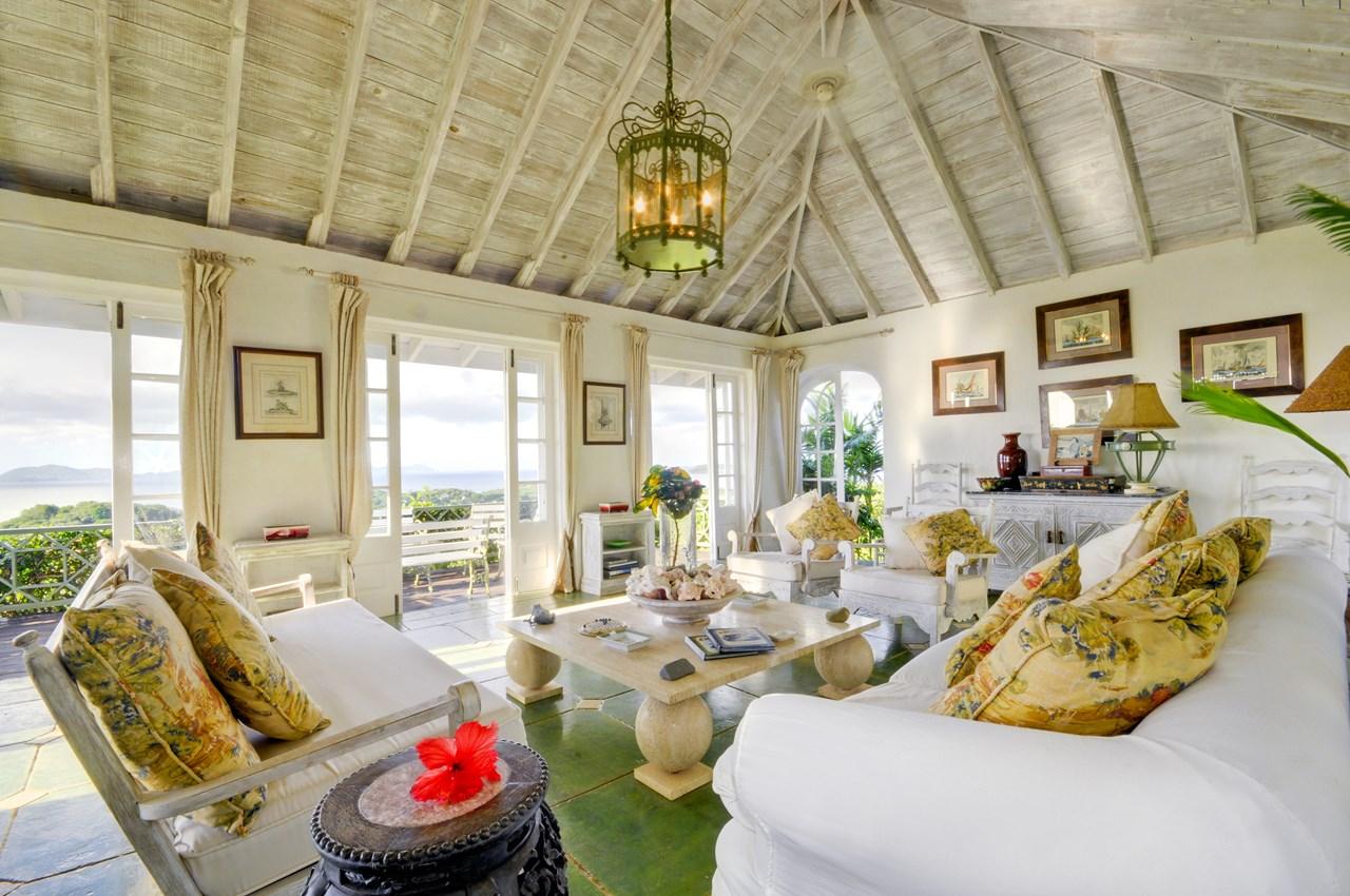 WIMCO Villas, Samambaia, MV MAR, Mustique, Hillside, 2 Bedroom Villa, 2 Bathroom Villa, Living Room, WiFi