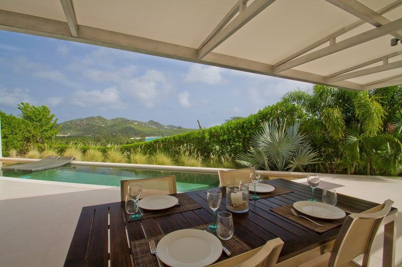 WIMCO Villas, WV ACE, St. Barthelemy, St. Jean, 1 Bedroom Villa, 2 Bathroom Villa, Pool, Dining Room, WiFi