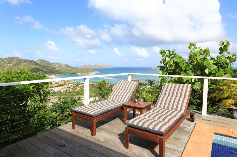 WIMCO Villas, Villa WV AQU, Aquamarine, St. Jean, St. Barthelemy, Pool, 2 Bedroom, 2 Bathroom, View from Villa, WiFi