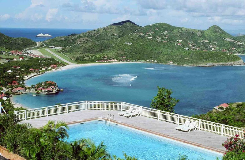 WIMCO Villas, Villa WV BRO, Les Terrasses-BRO, St. Jean, St. Barthelemy, Pool, 1 Bedroom, 1 Bathroom, View from Villa, WiFi