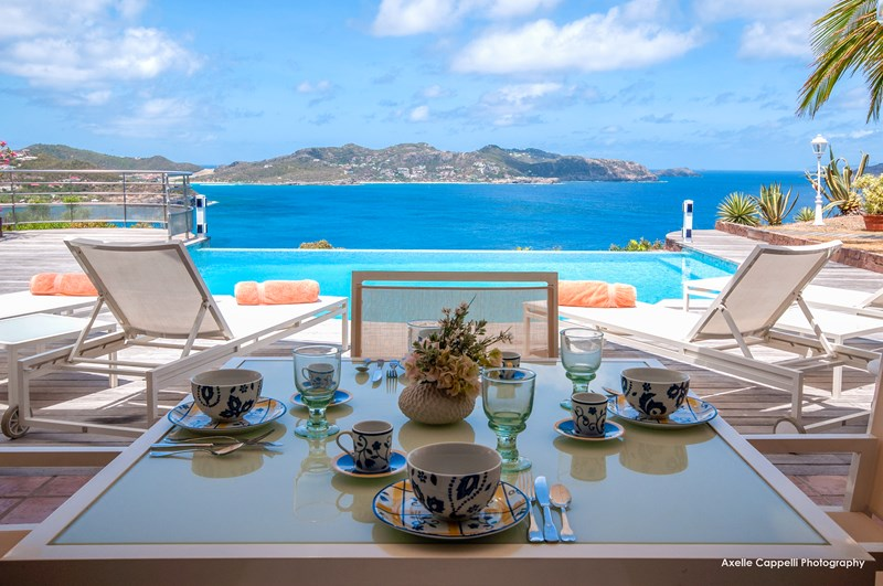 WIMCO Villas, Villa WV DOR, L''Abricotier, Pointe Milou, St. Barthelemy, Family-Friendly, Pool, 2 Bedroom, 2 Bathroom, View from Villa, WiFi