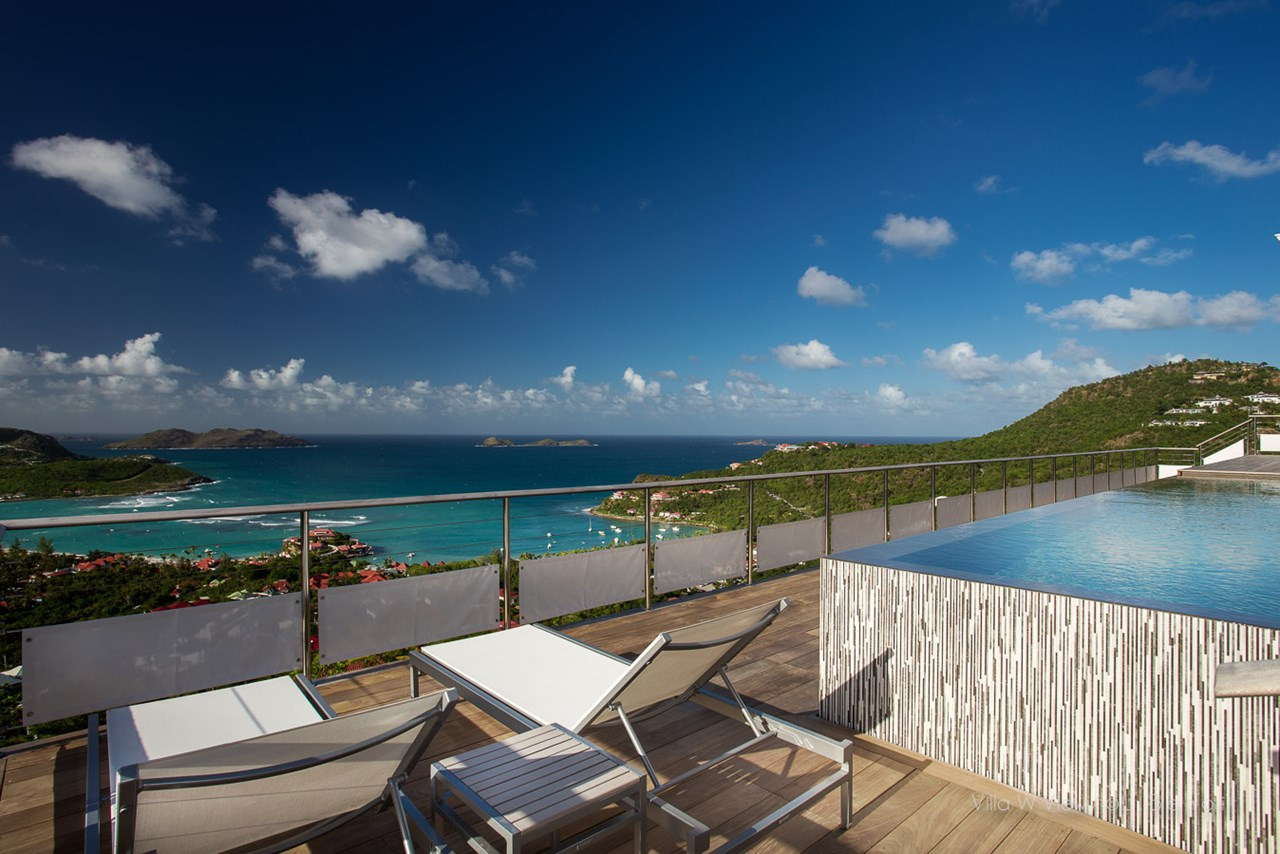 WIMCO Villas, W View, WV IEW, St. Barthelemy, St Barths, St. Jean, Family Friendly Villa, 4 Bedroom Villa, 4 Bathroom Villa, Pool, View from Villa, WiFi