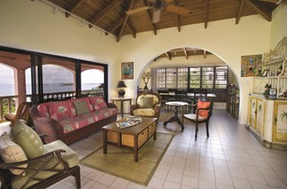 WIMCO Villas, Azula Vista, MA AZU, St. Thomas, Secret Harbor, Family Friendly Villa, 4 Bedroom Villa, 5 Bathroom Villa, Pool, Living Room, WiFi