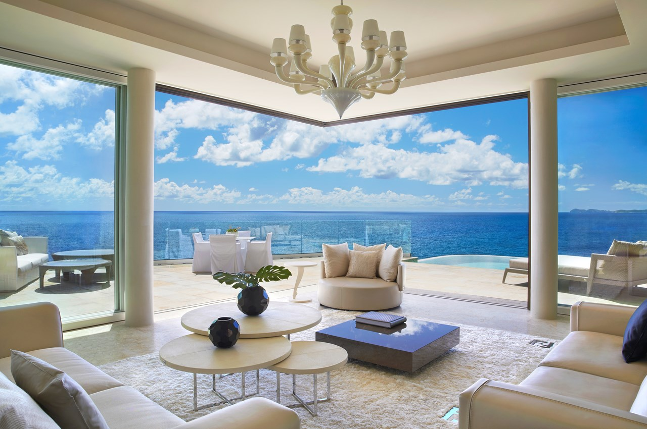 WIMCO Villas, Cliff Penthouse Suite at Oil Nut Bay, VIJ PEN, Virgin Gorda, Oil Nut Bay, Family Friendly Villa, 1 Bedroom Villa, 1 Bathroom Villa, Pool, Living Room, WiFi