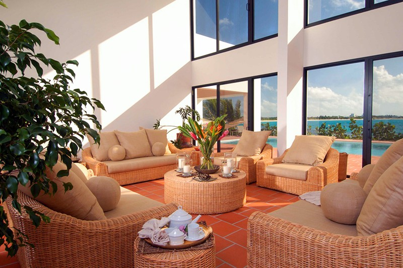 WIMCO Villas, CoveCastles, Anguilla, Living Room, Book now with WIMCO Villas