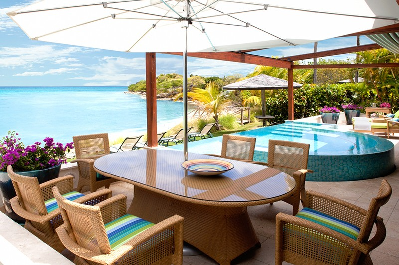 WIMCO Villas, Jumby Bay, A Rosewood Resort, Antigua, Patio, Book now with WIMCO Villas