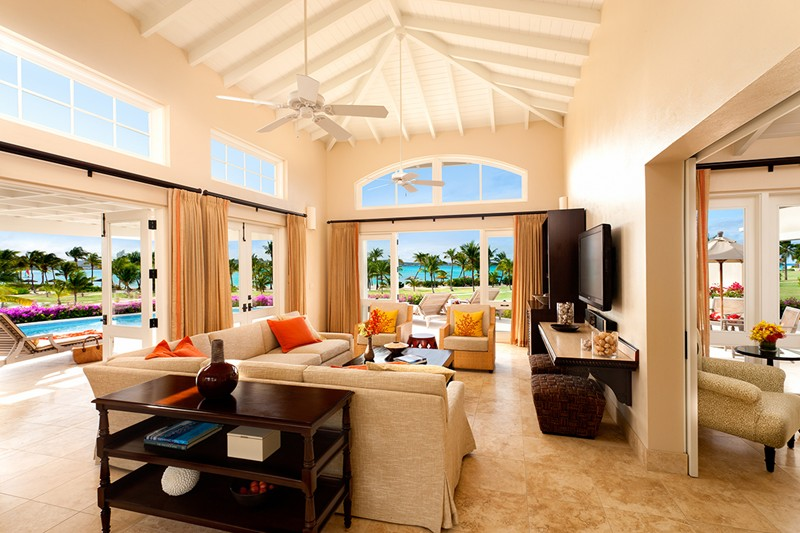 WIMCO Villas, Jumby Bay, A Rosewood Resort, Antigua, Living Room, Book now with WIMCO Villas