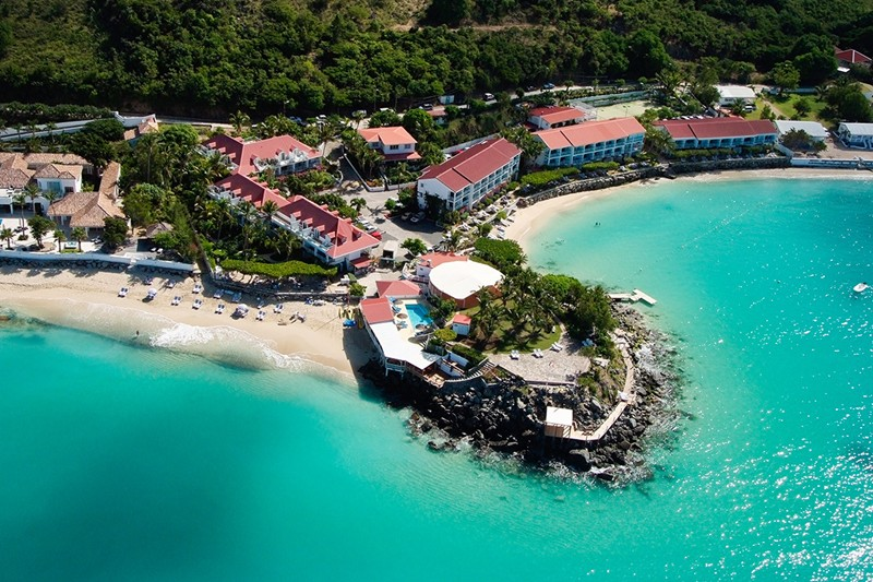 WIMCO Villas, Grand Case Beach Club, St. Martin, Aerial, Book now with WIMCO Villas