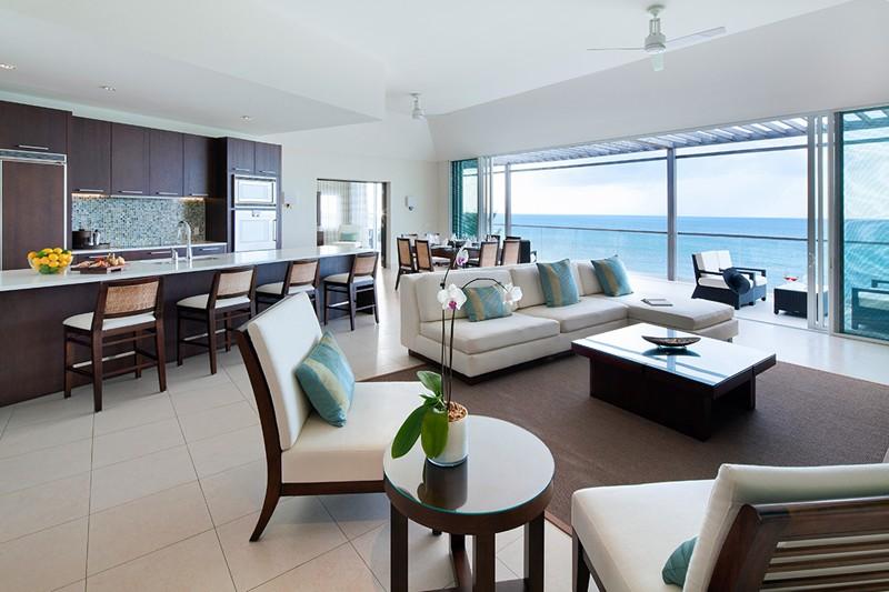 WIMCO Villas, Gansevoort Turks + Caicos, a Wymara Resort, Turks & Caicos Island, Living Room, Book now with WIMCO Villas
