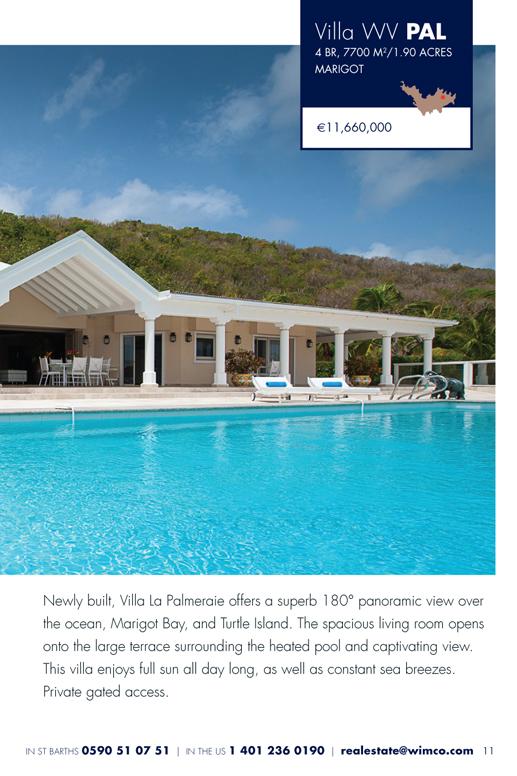 WIMCO Villa for sale, Villa La Palmeraie, WV PAL, Marigot, St Barths, 4 Bedrooms, 4 Bathroom 1.92 Acres