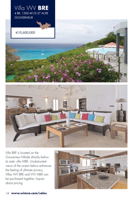 WIMCO Villa for sale, Villa ANS, WV BRE, Gouverneur, St Barths, 4 Bedrooms, 4 Bathroom Villa .37 Acres