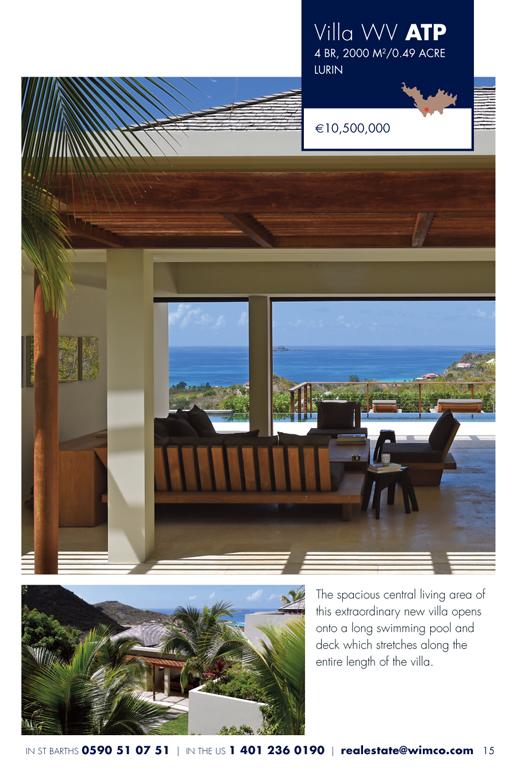 WIMCO Villa for sale, Villa Artepea, WV ATP, Lurin, St Barths, 4 Bedrooms, 4 Bathroom Villa .49 Acres