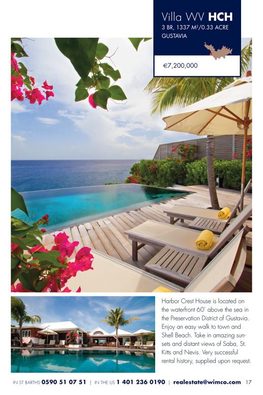 WIMCO Villa for sale, Villa Harbor Crest House, WV HCH, Gustavia, St Barths, 3 Bedrooms, 3 Bathroom .34 Acres