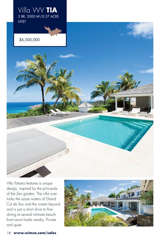WIMCO Villa for sale, Villa Tatiana, WV TIA, Vitet, St Barths, 5 Bedrooms, 5 Bathroom Villa .72 Acres