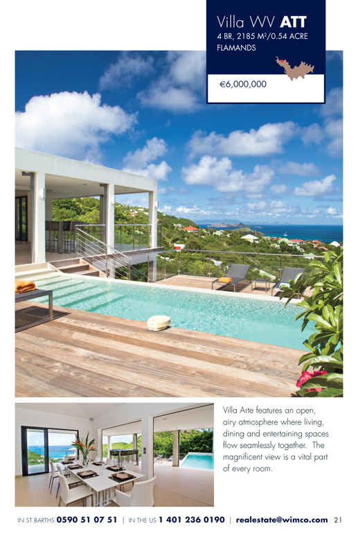 WIMCO Villa for sale, Villa Arte, WV ATT, Flamands, St Barths, 4 Bedrooms, 4 Bathroom Villa, .54 Acres