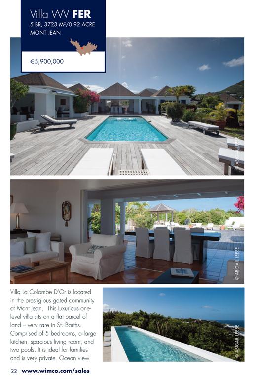 WIMCO Villa for sale, Villa La Colombe d'Or, WV FER, Mont Jean, St Barths, 5 Bedrooms, 6 Bathroom Villa, .92 Acres