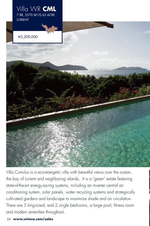 WIMCO Villa for sale, Villa Cumulus, WR CML, Lorient, St Barths, 7 Bedrooms, 5 Bathroom Villa, .63 Acres