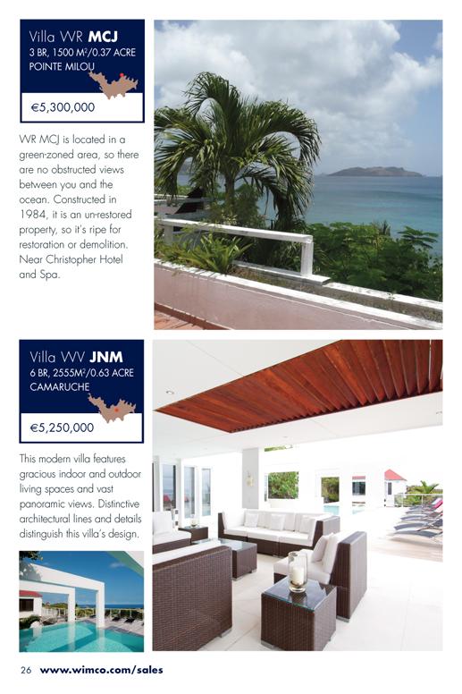 WIMCO Villas for sale, WR MCJ, WV JNM, St Barths