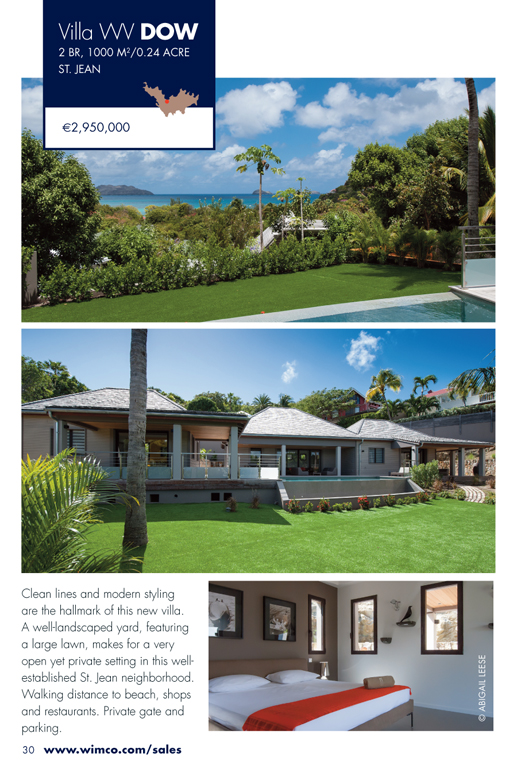 WIMCO Villa for sale, WR DOW, St Jean, St Barths, 2 Bedrooms, 2 Bathroom Villa, .24 Acres