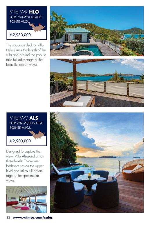 WIMCO Villas for sale, WV HLO, WR ALS, St Barths