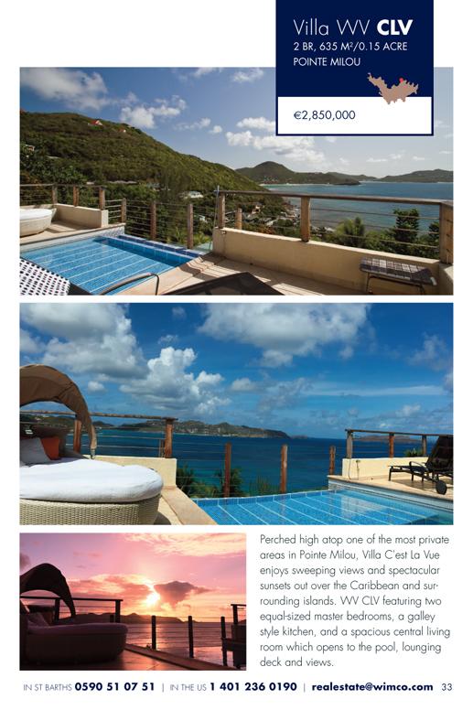 WIMCO Villa WV CLV for sale, Villa Atalante, Pointe Milou, St Barths, 2 Bedroom, 2 Bathroom Villa, .15 Acres