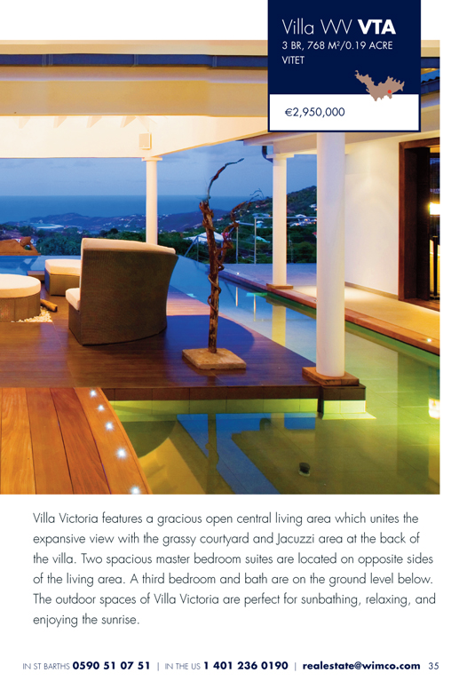 WIMCO Villa for sale, WR VTA, Vitet, St Barths, 3 Bedrooms, 3 Bathroom Villa .19 Acres
