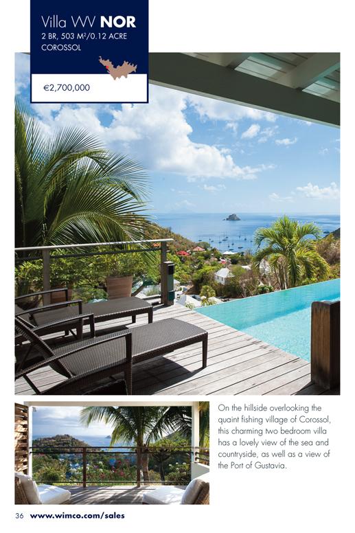 WIMCO Villa for sale, WV NOR, Corrosol, St Barths, 2 Bedrooms Villa, .12 Acres