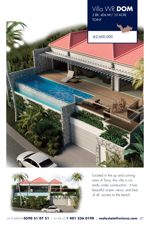 WIMCO Villa for sale, WR DOW, St Jean, St Barths, 2 Bedrooms,2 Bathroom Villa,.24 Acres