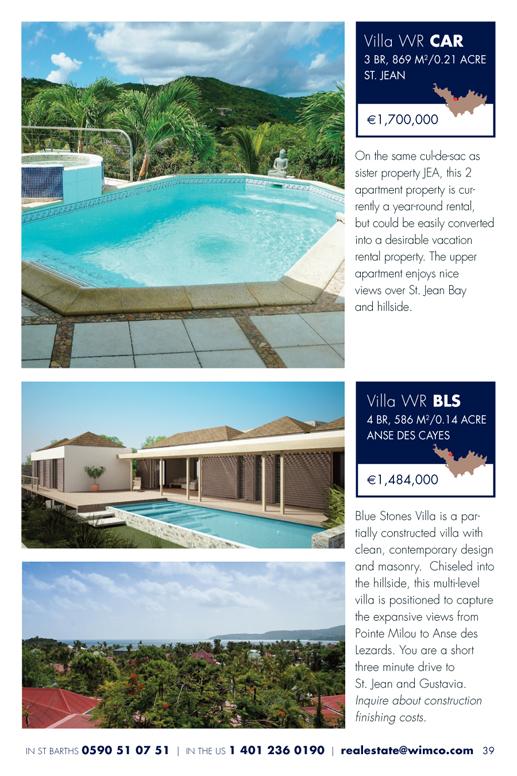 WIMCO Villas for sale, WR CAR, WR BLS, St Barths