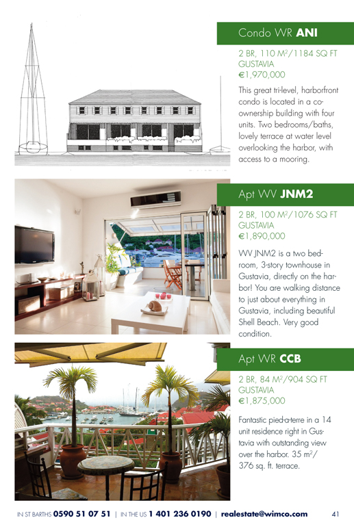 WIMCO Apartments for Sale, WR ANI, WV JNM2, WR CCB, St Barths