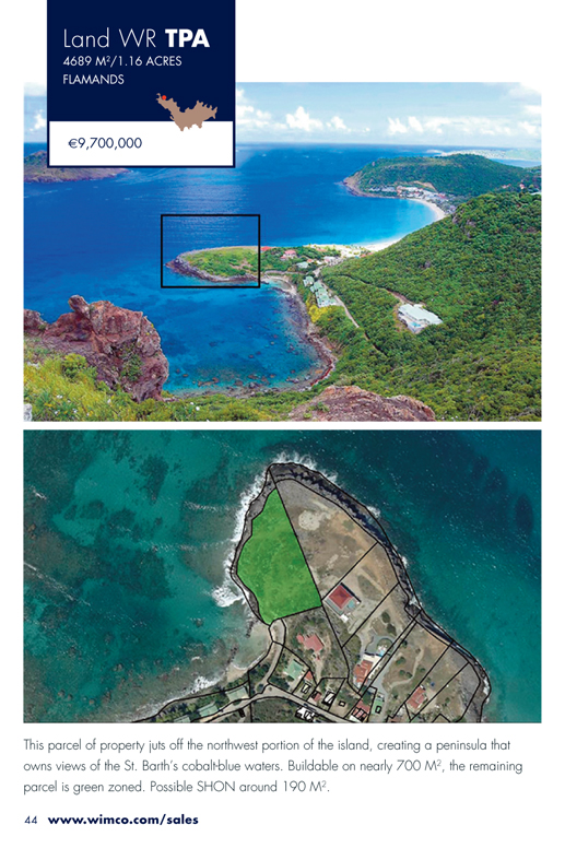 WIMCO Land for sale, WR TPA, Flamands, St Barths, 1.16 Acres