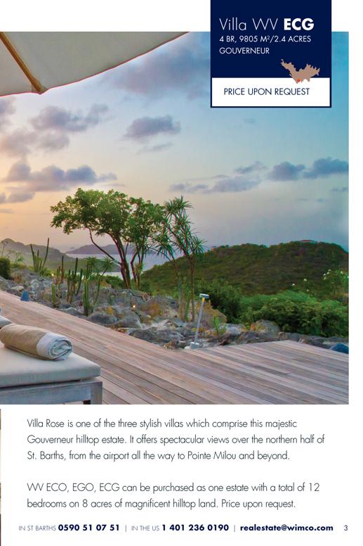 WIMCO Villa for sale, Villa Rose, WV ECG, Gouverneur, St Barths 4 Bedrooms, 2.42 Acres