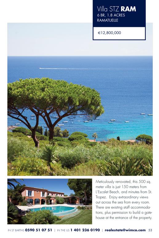 WIMCO Villa for sale, STZ RAM<, Ramatuelle, St Tropez, 7 Bedroom Villa, 1.8 Acres