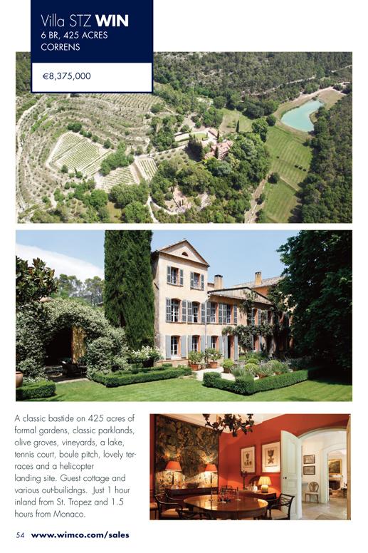 WIMCO Villa for sale, STZ WIN, Correns, St Tropez, 6 Bedroom Villa, 425 Acres