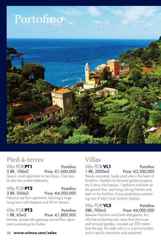 Portofino, Italy Properties for Sale from WIMCO Villas