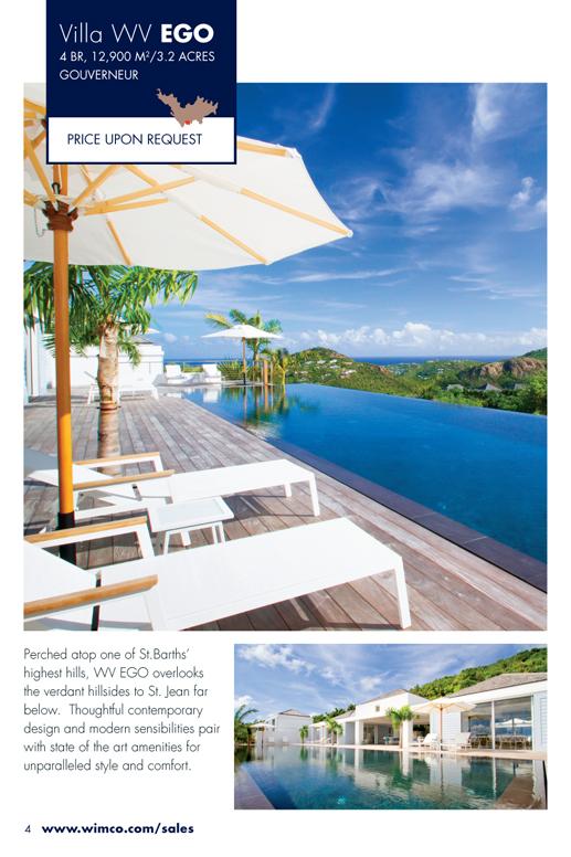 WIMCO Villa for sale, Villa Rose, WV EGO, Gouverneur, St Barths 4 Bedrooms, 3.2 Acres