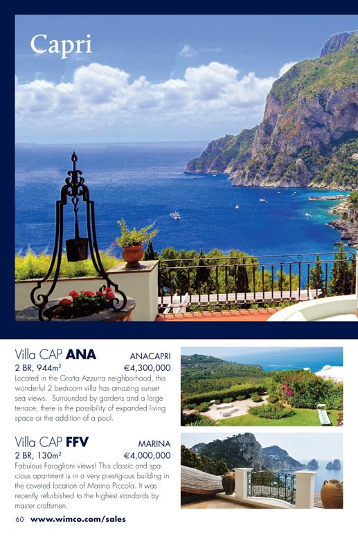 Capri, Italy Properties for Sale from WIMCO Villas